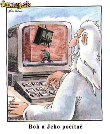 Boh a jeho tlačítko
